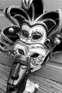 masks - in the black & white light of day